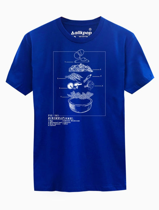 Bibimbap Tee Tees AKP Male Blue Small