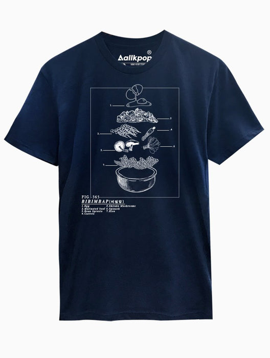 Bibimbap Tee Tees AKP Male Navy Small