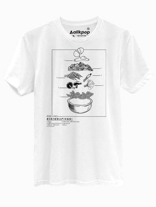 Bibimbap Tee Tees AKP Male White Small