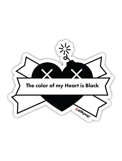 Black Heart Sticker Stickers AKP