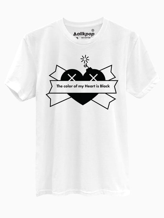 Black Heart Tee Tees AKP Male White Small