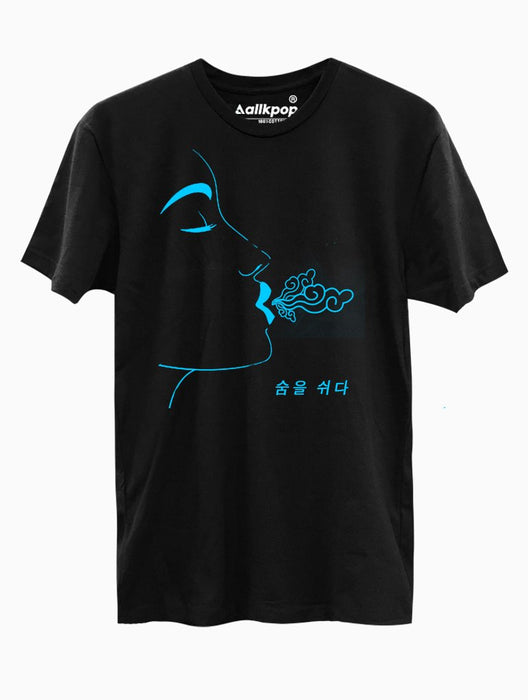 Breathe Blue Tee Tees AKP Male Black Small