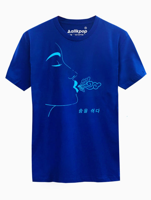 Breathe Blue Tee Tees AKP Male Blue Small