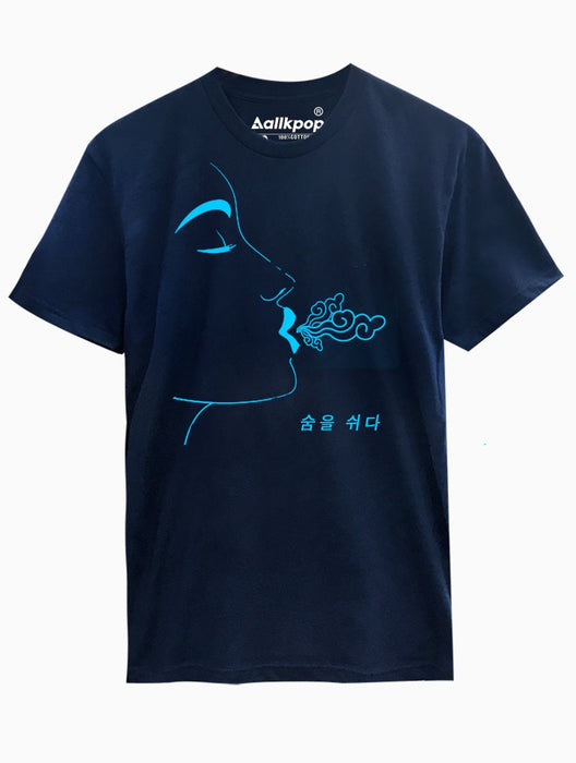 Breathe Blue Tee Tees AKP Male Navy Small