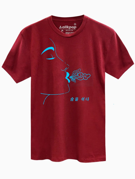 Breathe Blue Tee Tees AKP Male Red Small