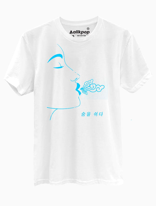 Breathe Blue Tee Tees AKP Male White Small