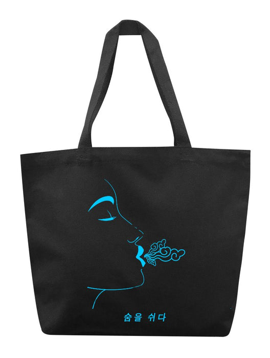 Breathe Blue Tote Tote AKP Black