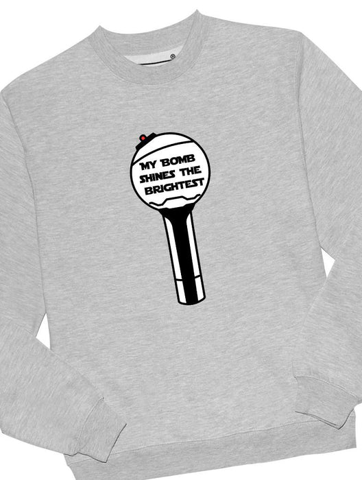 BTS Bomb Crew Crews AKP Unisex Grey Small