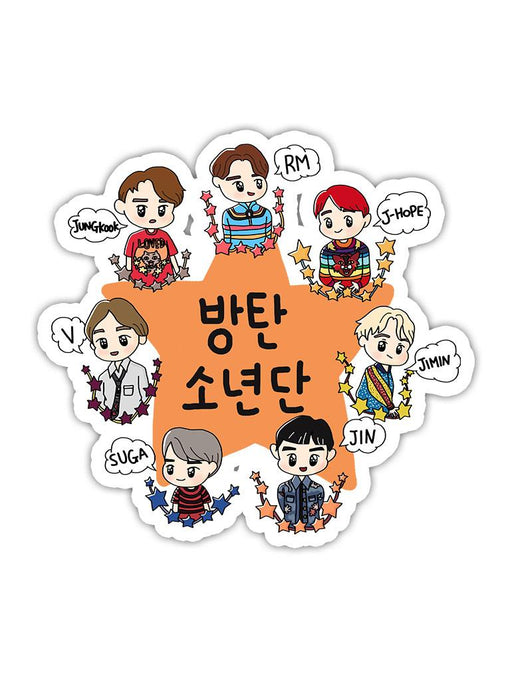 BTS Chibi Sticker Stickers AKP