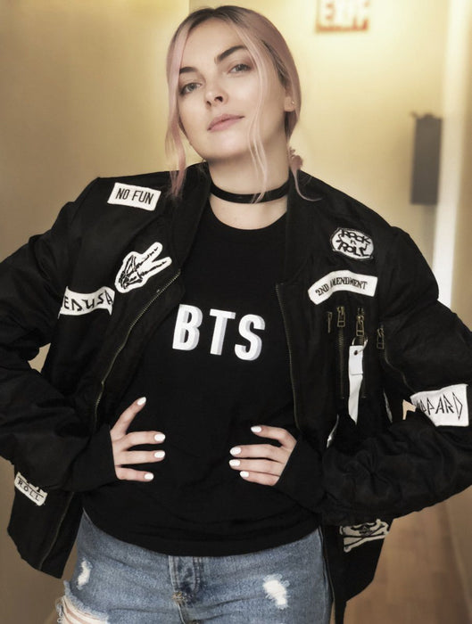 BTS Drop Tee Tees AKP Male Black Small