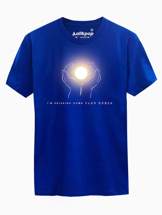 BTS Lights Tee Tees AKP Male Blue Small