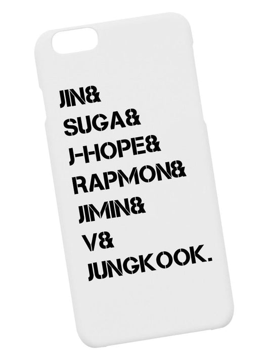 BTS Name Case Phone Case AKP White