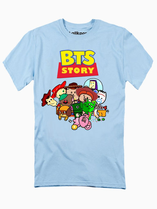 BTS Story Tee Tees AKP Male Baby-Blue Small
