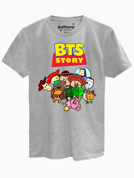 BTS Story Tee Tees AKP Male Grey Small