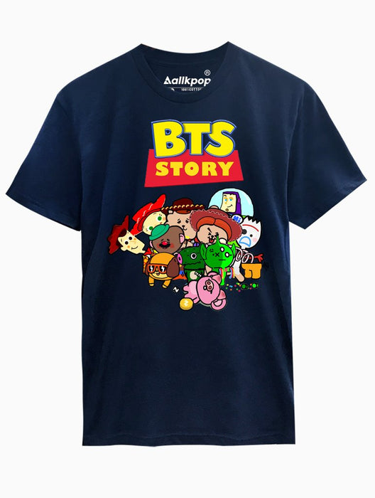BTS Story Tee Tees AKP Male Navy Small