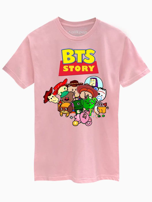 BTS Story Tee Tees AKP Male Pink Small