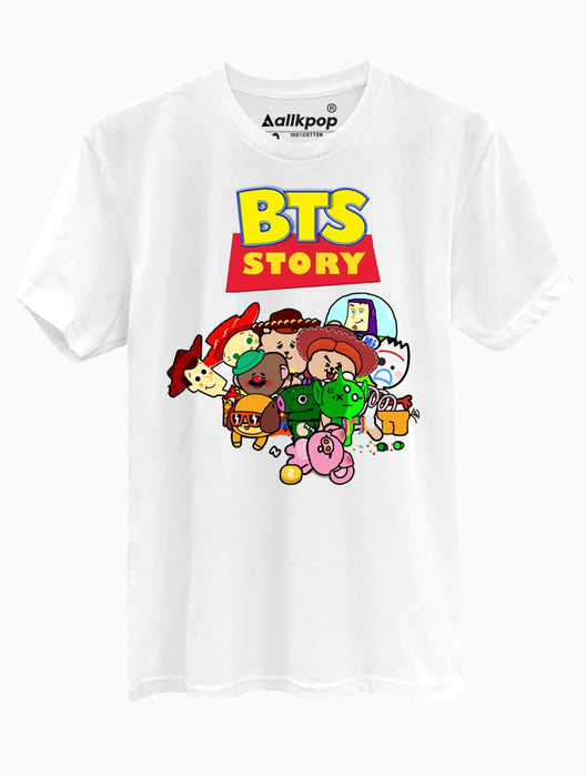 BTS Story Tee Tees AKP Male White Small