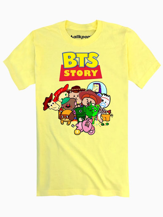 BTS Story Tee Tees AKP Male Yellow Small