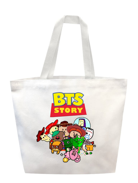 BTS Story Tote Tote AKP White