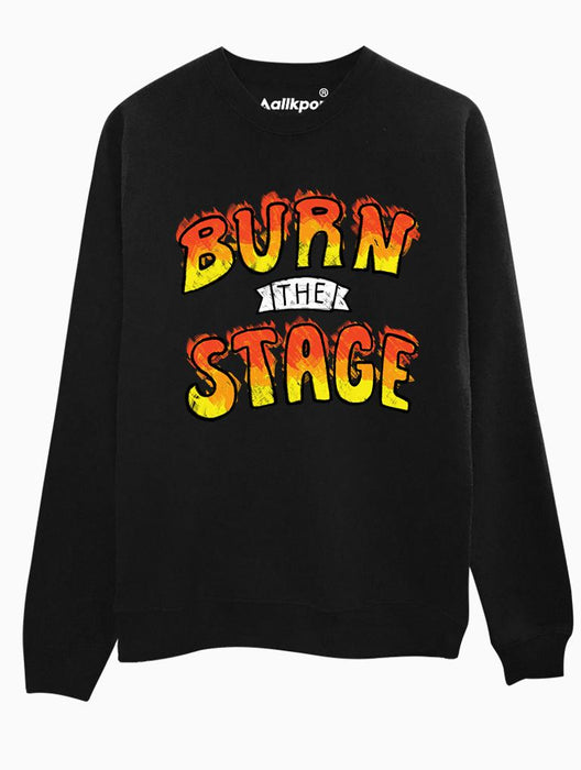 Burn Stage Crew Crews AKP Unisex Black Small