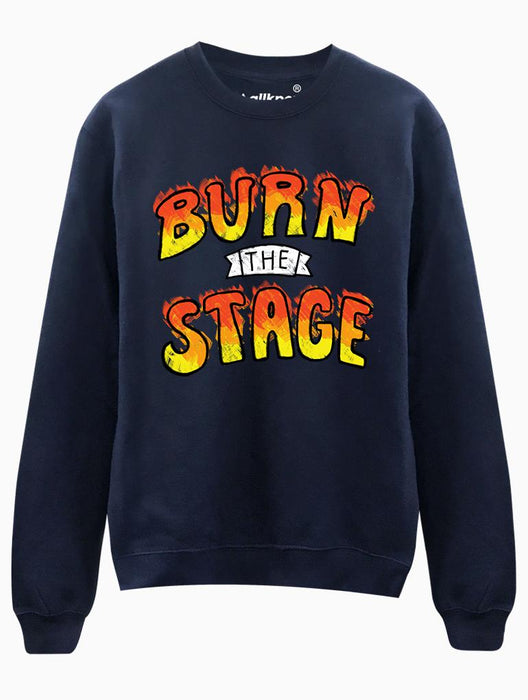 Burn Stage Crew Crews AKP Unisex Navy Small