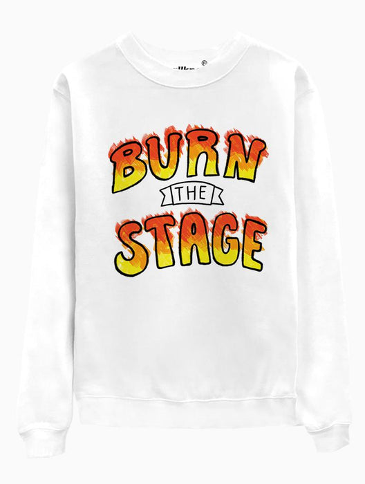Burn Stage Crew Crews AKP Unisex White Small