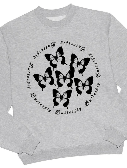 Butterfly Crew Crews AKP Unisex Grey Small