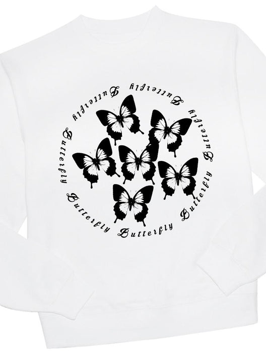 Butterfly Crew Crews AKP Unisex White Small