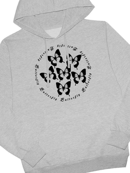 Butterfly Hoodie Hoodies AKP Unisex Grey Small