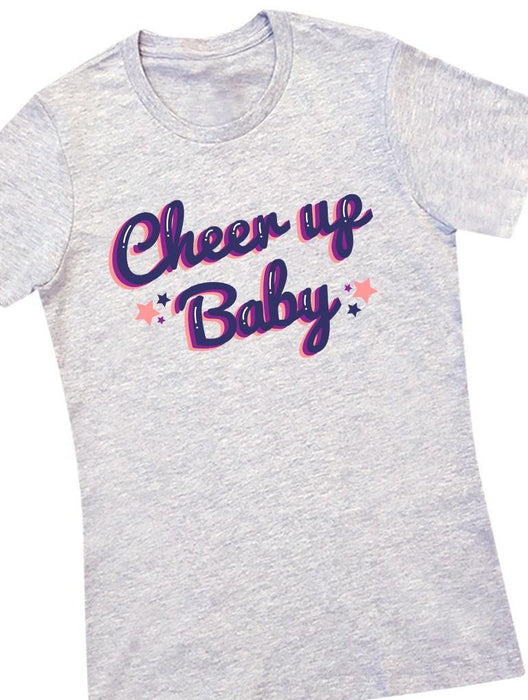 Cheer Up Tee Tees AKP Female Grey Small
