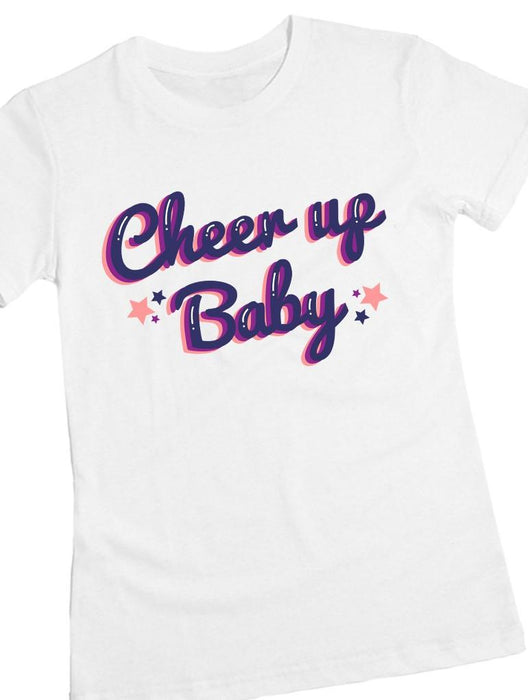 Cheer Up Tee Tees AKP Female White Small
