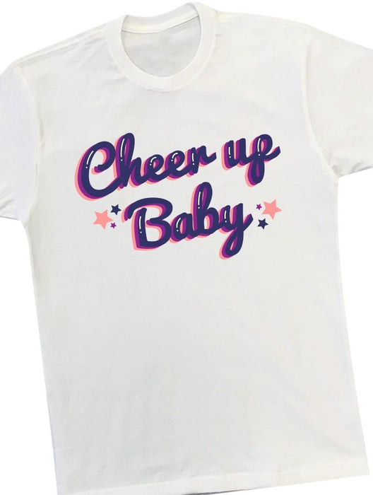Cheer Up Tee Tees AKP Male White Small