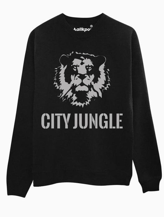City Jungle Crew Crews AKP Unisex Black Small