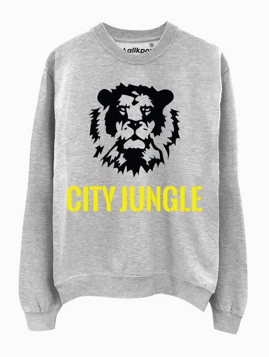 City Jungle Crew Crews AKP Unisex Grey Small