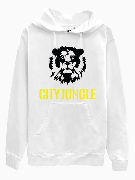 City Jungle Hoodie Hoodies AKP Unisex White Small