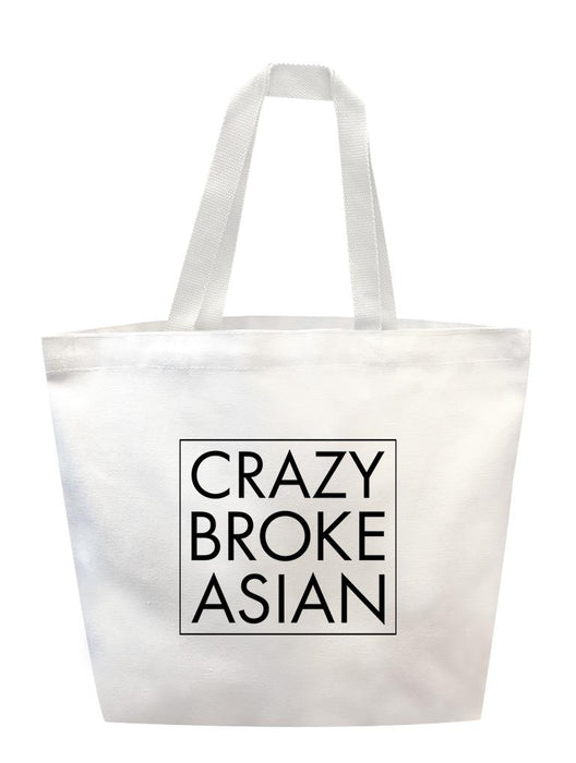 Crazy Broke Asian Tote Tote AKP White
