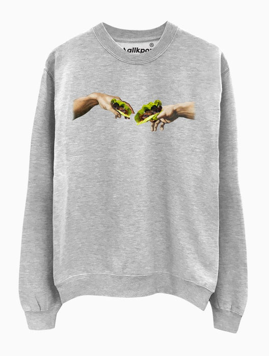 Creation of Ssam Crew Crews AKP Unisex Grey Small