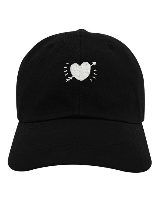 Crooked Heart Dad Hat Dad Hat AKP Black