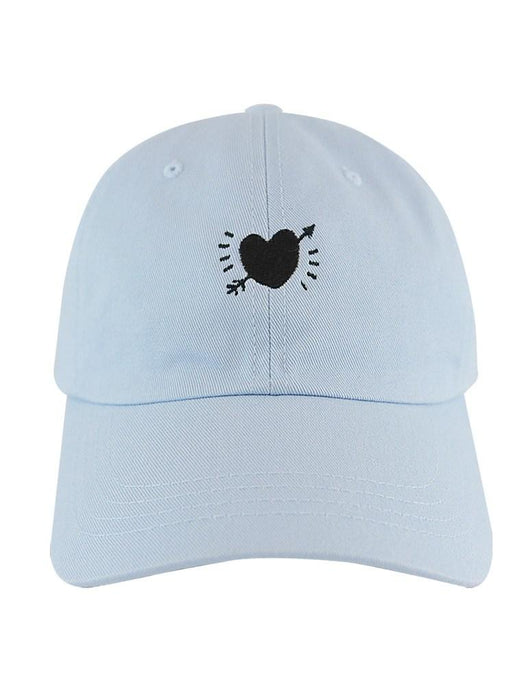 Crooked Heart Dad Hat Dad Hat AKP Blue
