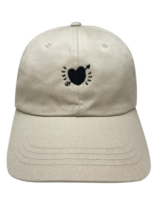 Crooked Heart Dad Hat Dad Hat AKP Khaki