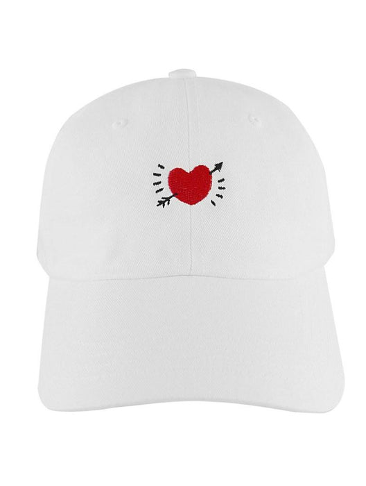 Crooked Heart Dad Hat Dad Hat AKP White