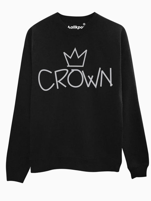 Crown Crew Crews AKP Unisex Black Small