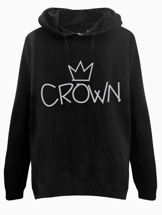 Crown Hoodie Hoodies AKP Unisex Black Small