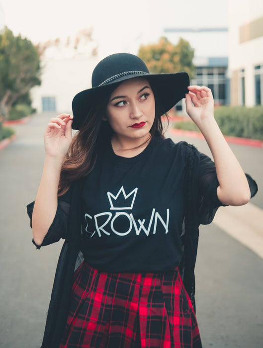 Crown Tee Tees AKP Male Black Small