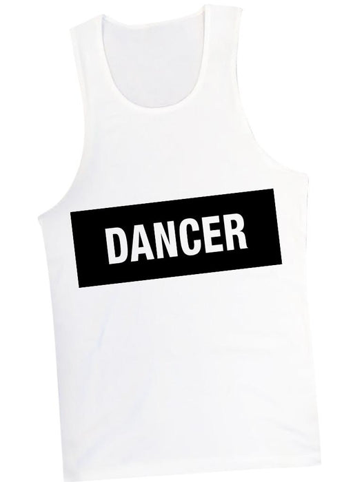 Dancer Tank Tanks AKP Unisex White Small