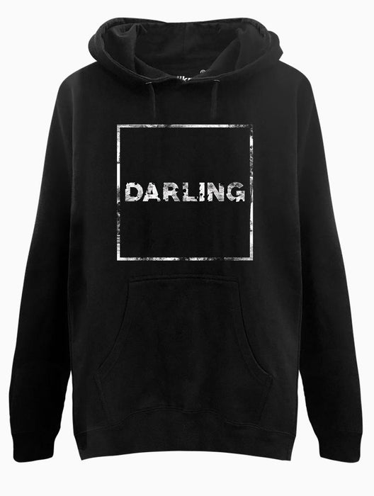 Darling Hoodie Hoodies AKP Unisex Black Small