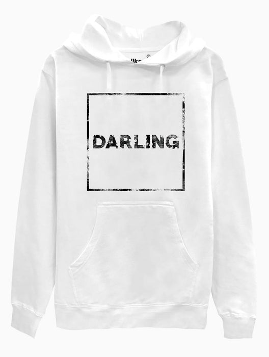 Darling Hoodie Hoodies AKP Unisex White Small