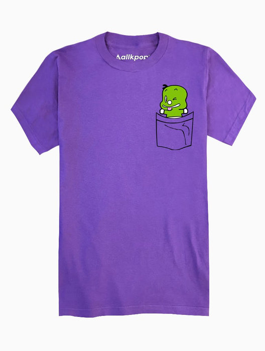 Dino Pocket Tee Tees AKP Male Purple Small
