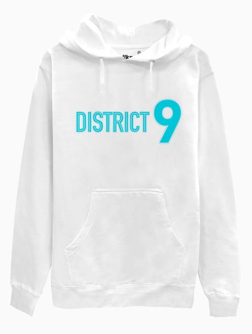 District 9 Hoodie Hoodies AKP Unisex White Small