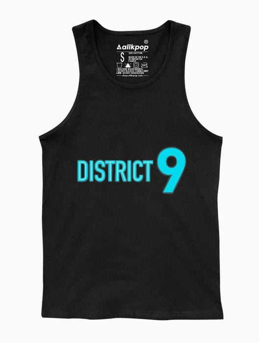 District 9 Tank Tanks AKP Unisex Black Small